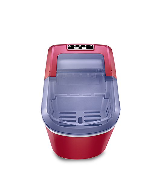 Big Window Red Portable Mini Cube Ice Maker HZB-12A