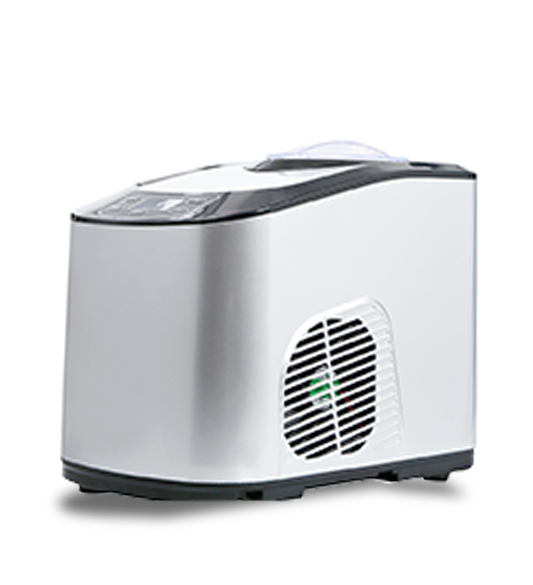 White Household Ice Cream Maker Machine