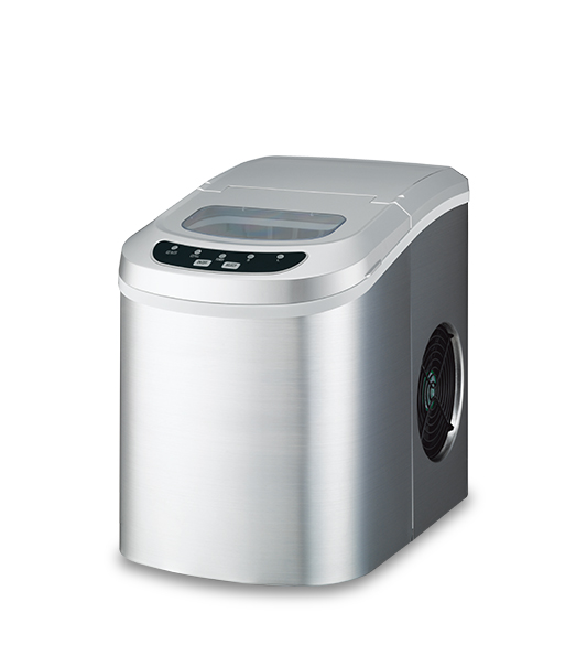 Ice Maker HZB-12 Stainless steel silver cover