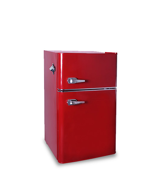 Refrigerator BCD-90 Red door refrigerator freezer