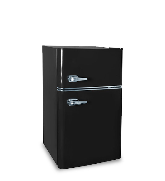 90l double door refrigerator freezer