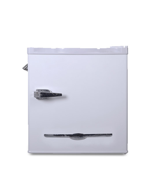 Retro Home Stainless Steel Refrigerator Fridge with Lock