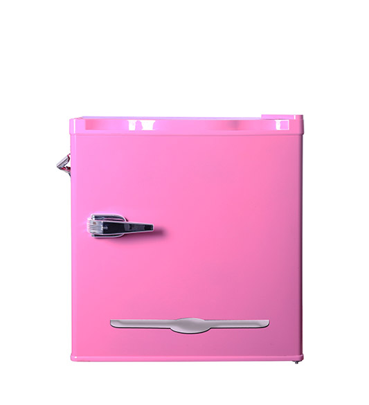 Mini Home Use Refrigerator with Handle and Bottle Opener