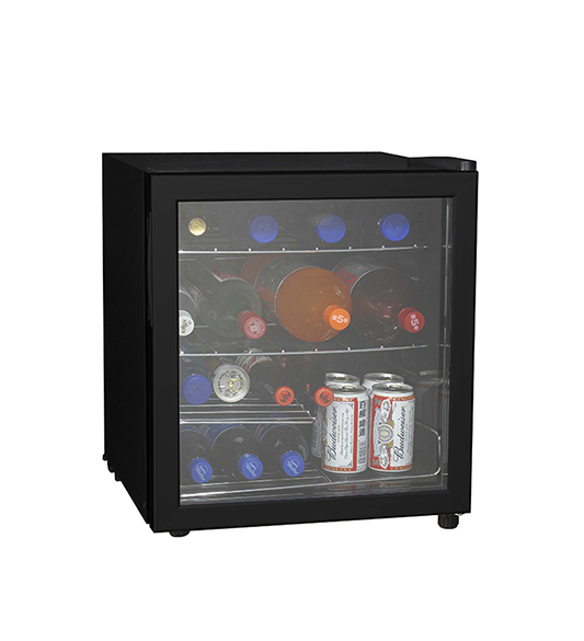 Black Refrigerator With Glass Door Wine Cooler JC-46