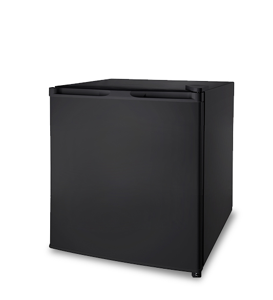 Refrigerator BC-46 black no top cover close