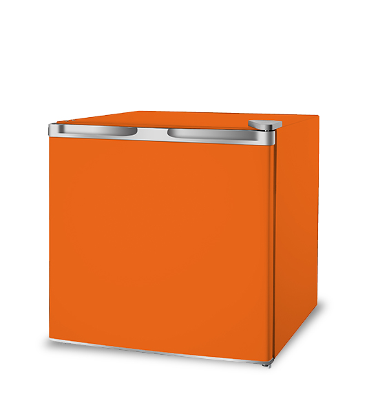 Customized Orange Mini Refrigerator for Home Use