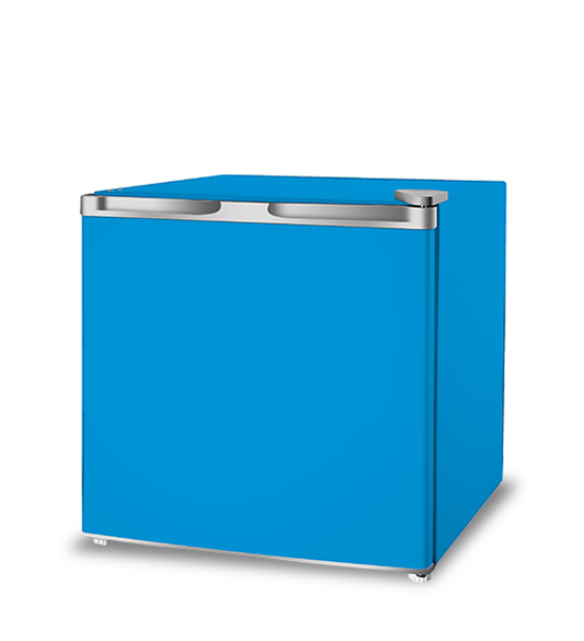 Blue Portable Slim Deep Chiller Mini Refrigerator