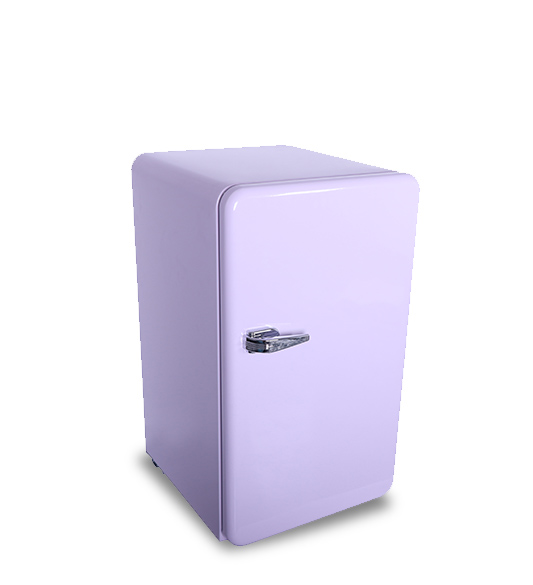 Purple Powerful Silent Compressor Single-door Refrigerator BC-90R