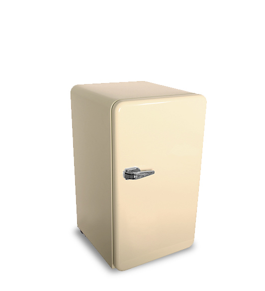 Beige Large-capacity with Almost No Noise Refrigerator BC-90R-Y