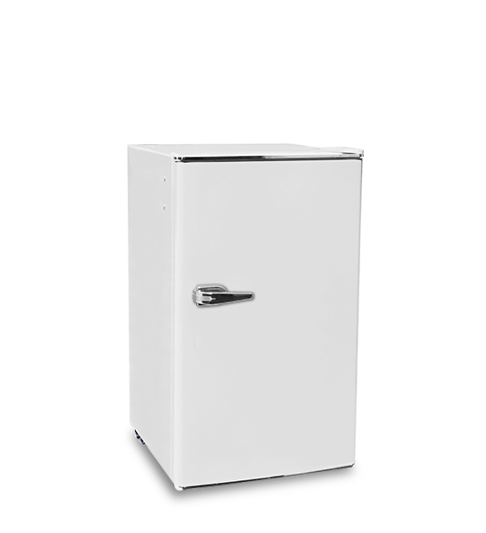 White 128 Liters Single Door Refrigerator