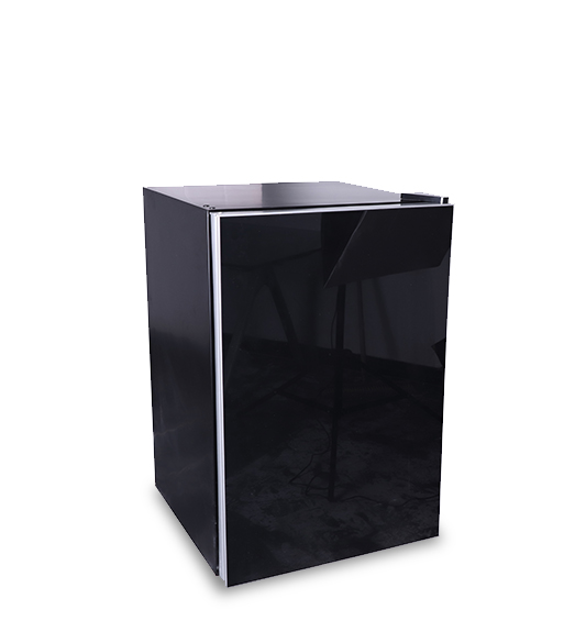 Black Full Size Single-door Refrigerator