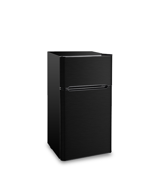 Refrigerator BCD-127 Black stainless steel