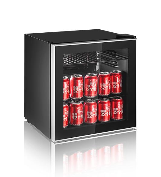 Glass Door Refrigerator Coca Cola Wine Cooler JC-46